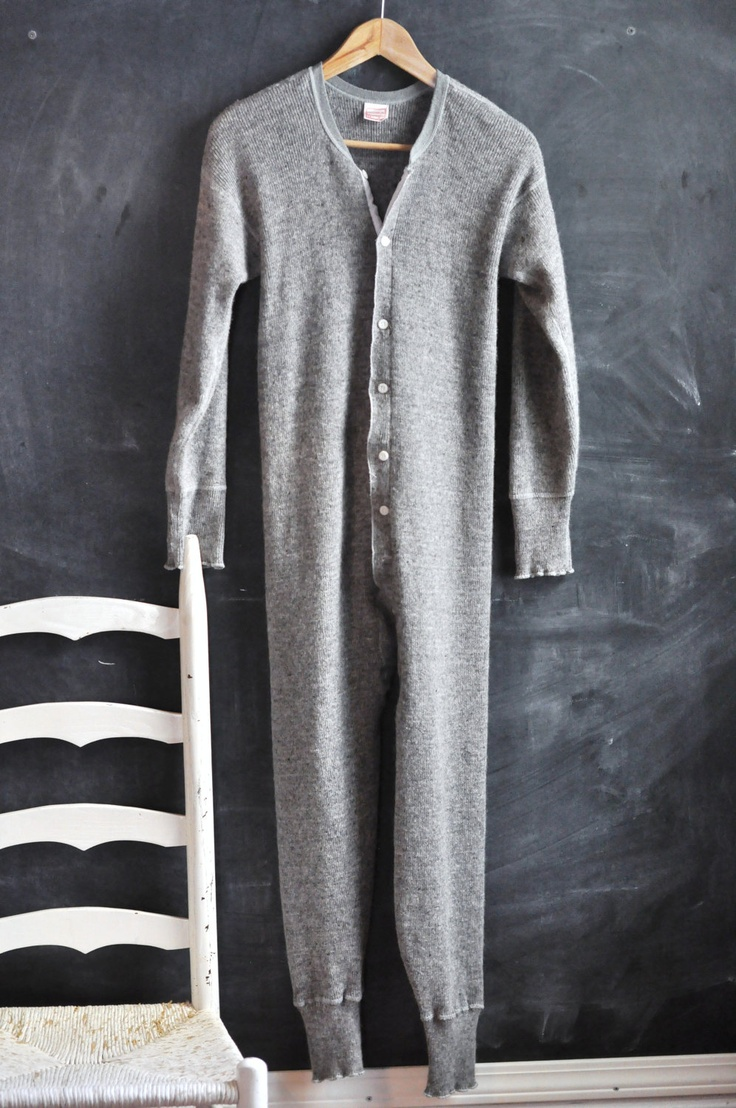Vintage Wool Union Suit Long Underwear Unisex Winter Warmth. I NEED this.