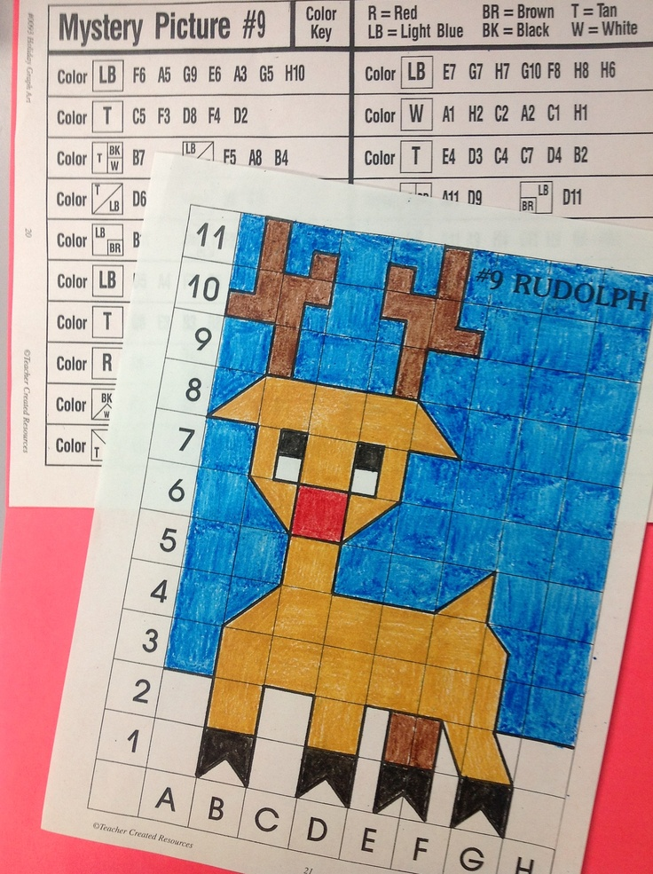 Math Art Worksheets : Holiday graph art projects combine math with