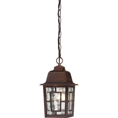 Charlton Home Timmons 1 Light Outdoor Hanging Lantern Finish: Rustic Bronze