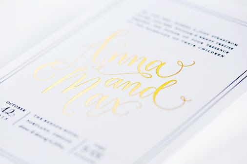 THE PRINTING PROCESS: FOIL STAMPING