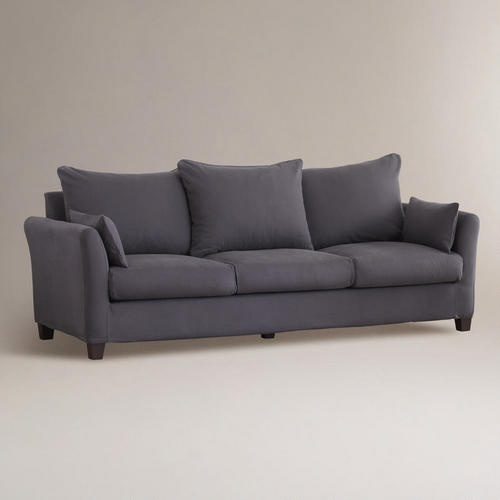 One of my favorite discoveries at WorldMarket.com: Charcoal Canvas Luxe 3-Seat Sofa Slipcover