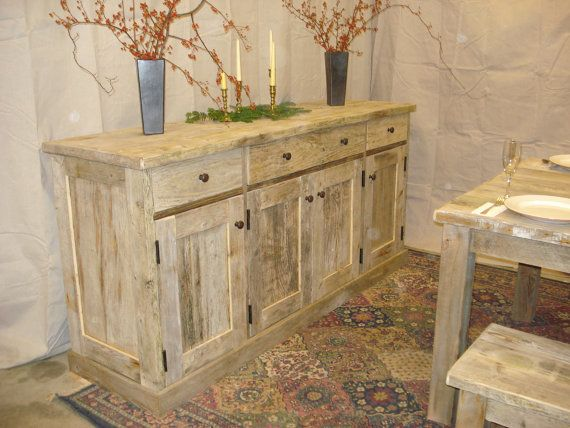 Rustic, Handmade, Driftwood Sideboard Cabinet This is a very unique Sideboard Cabinet which is handmade using rustic driftwood which has been