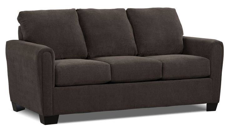 Living Room Furniture - Spa Collection Chenille Full-Size Sofa Bed – Charcoal