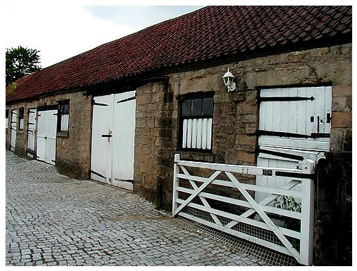 Cobbled Stable Yard In Ashfield, Nottinghamshire. Late 18th To Mid 19th  Century Stables.