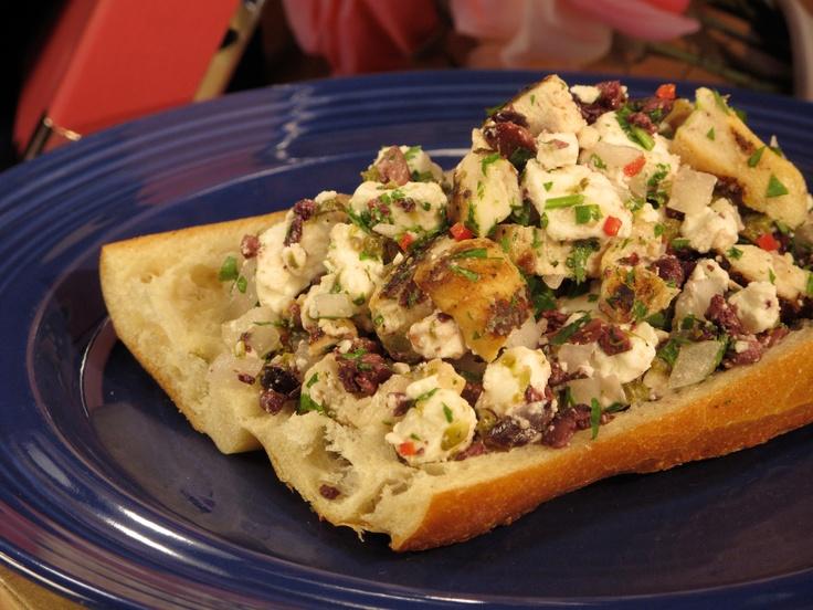 Greek Chicken Salad Sandwiches from CookingChannelTV.com