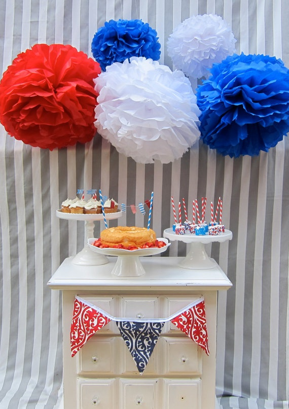 Washington Collection5 pom poms fourth of by PaperwhiteDesigns, $20.00