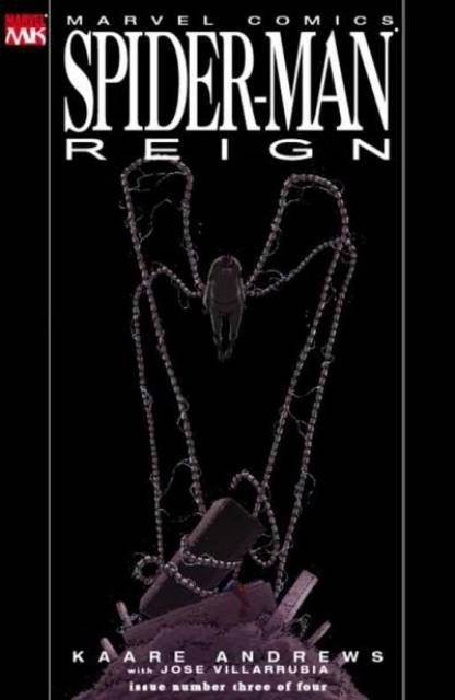 The cover to Spider-Man: Reign #3 (2007), art by Kaare Andrews