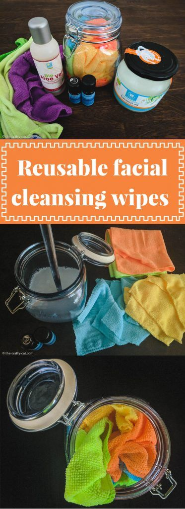 Reusable facial cleansing wipes, gently exfoliate, made with essential oils and soothing aloe vera. #facialcleansing #aloevera #reuse #zerowaste #naturalskincare #diyskincare #diy