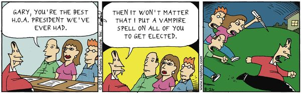 Vampire Spell - Scary Gary on Gocomics.com