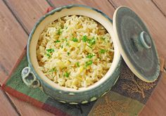 Greek Lemon Rice - i used 1/4 c butter and closer to 4 c chicken broth.  Not as gooey as original recipe.