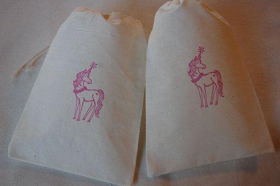 Partido 13 de algodón de la muselina del unicornio favor