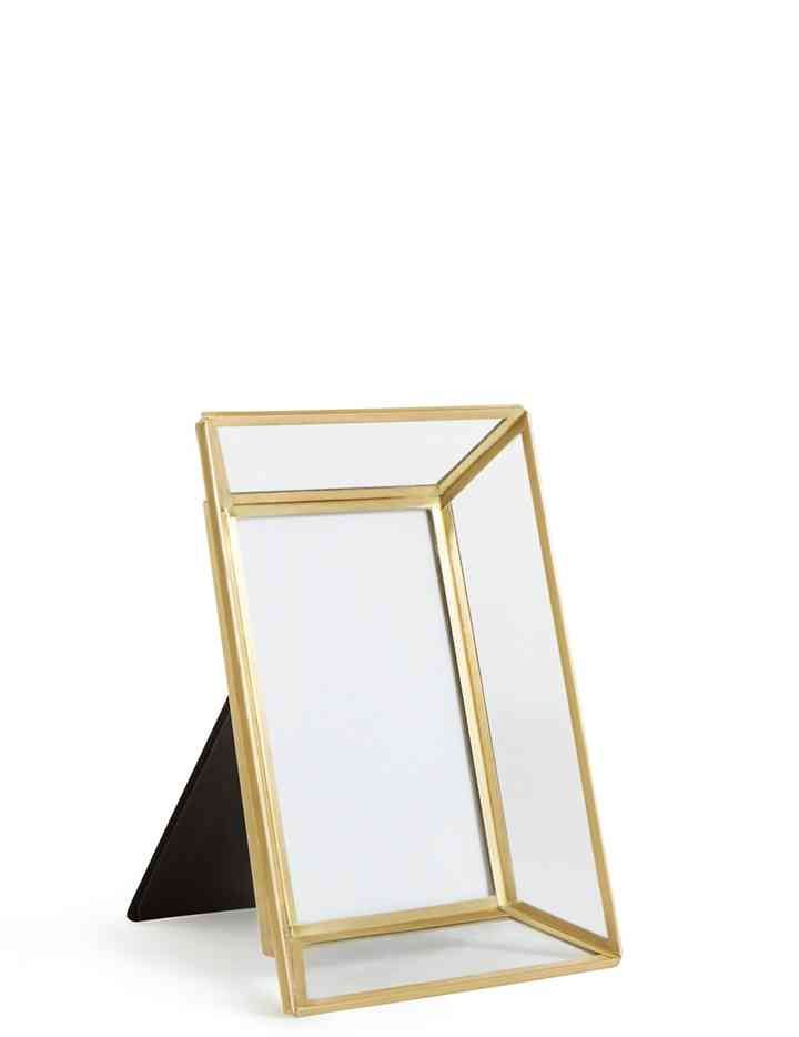 Glass Brass Photo Frame 10 X 15cm 4 X 6 Inch Brass Photo Frame Photo Frame Glass
