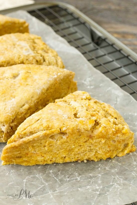 Easiest Pumpkin Scones recipe are soft and fluffy on the inside with crispy edges