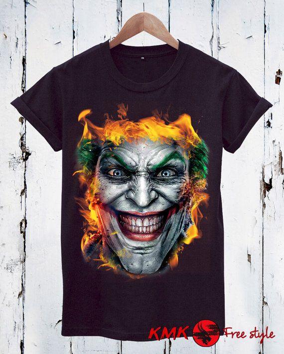 Joker Flames T-shirt / Joker Tee / Flames Joker by KMKDIGITAL