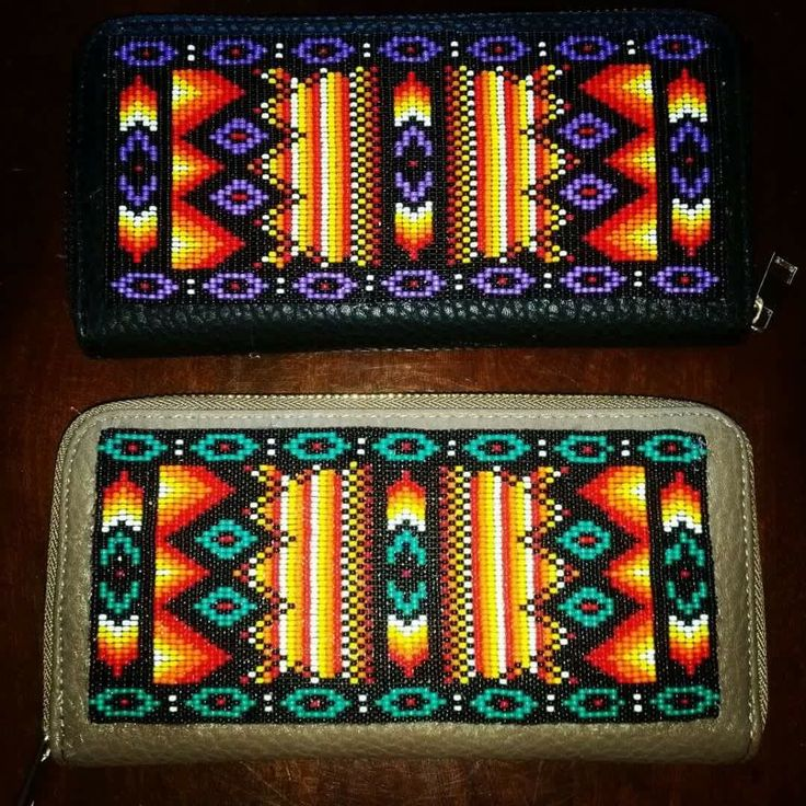 "Beaded wallets.  See pattern for making this design on my ""Loom Beading & Square Stitch"" board."