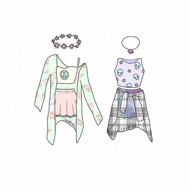 Легкие рисунки одежды для девочек