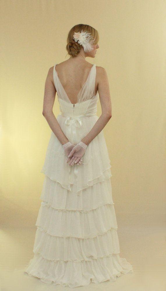 Lori  zerzauste Seide Brautkleid von ivanakrejci auf Etsy