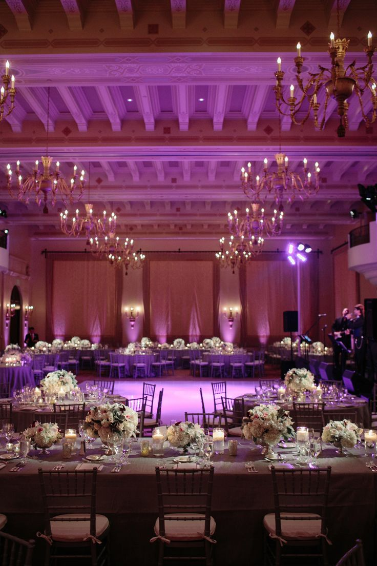 Columns ivory fabric uplighting wedding ceremony downtown double tree elegant ballroom wedding montage download
