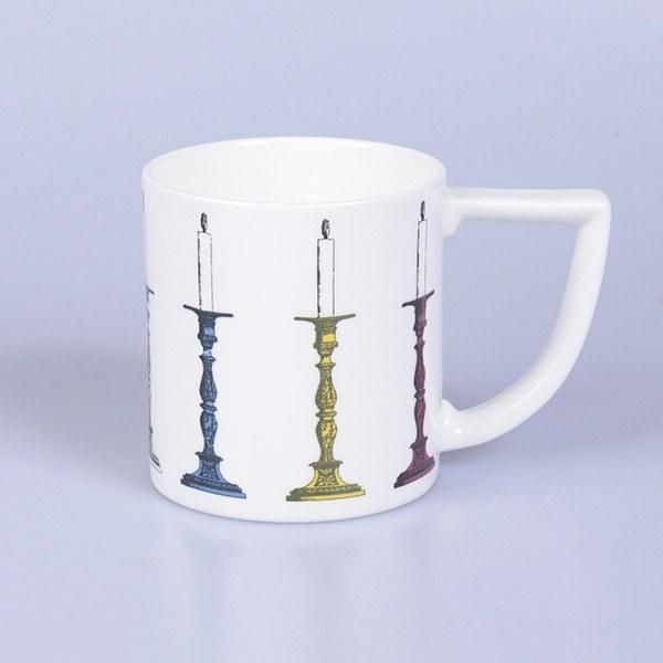 Handmade 'Candlestick' Mug - Perfect for any individual who enjoys the elegance of candlesticks. Made in Stoke-on-Trent, England. Matching candle also available. Fine Bone China. #Candlestick #Candles #MadeInStokeOnTrent #MadeInEngland #Mug #FineBoneChina #Gift ##GiftInspiration #Tea #Coffee #CandleHolder