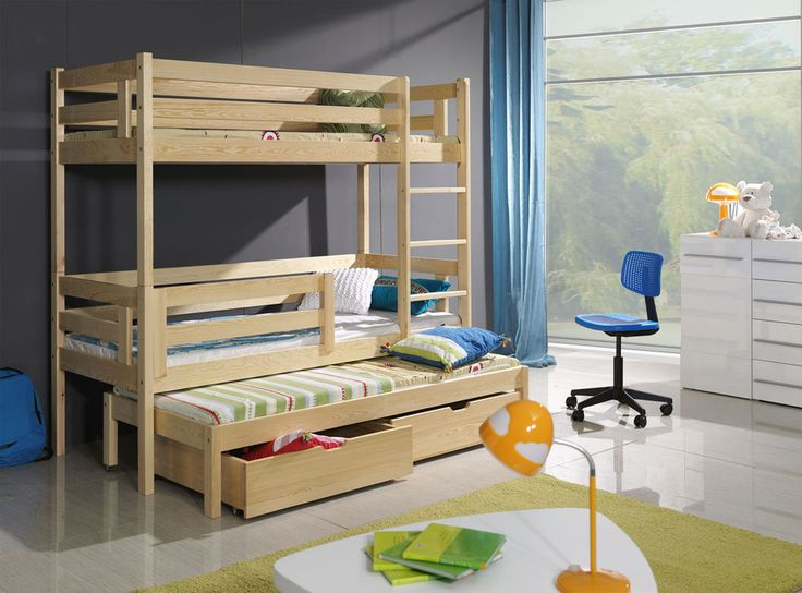 new triple sleeper white pine solid childrens bunk beds mattresses drawers
