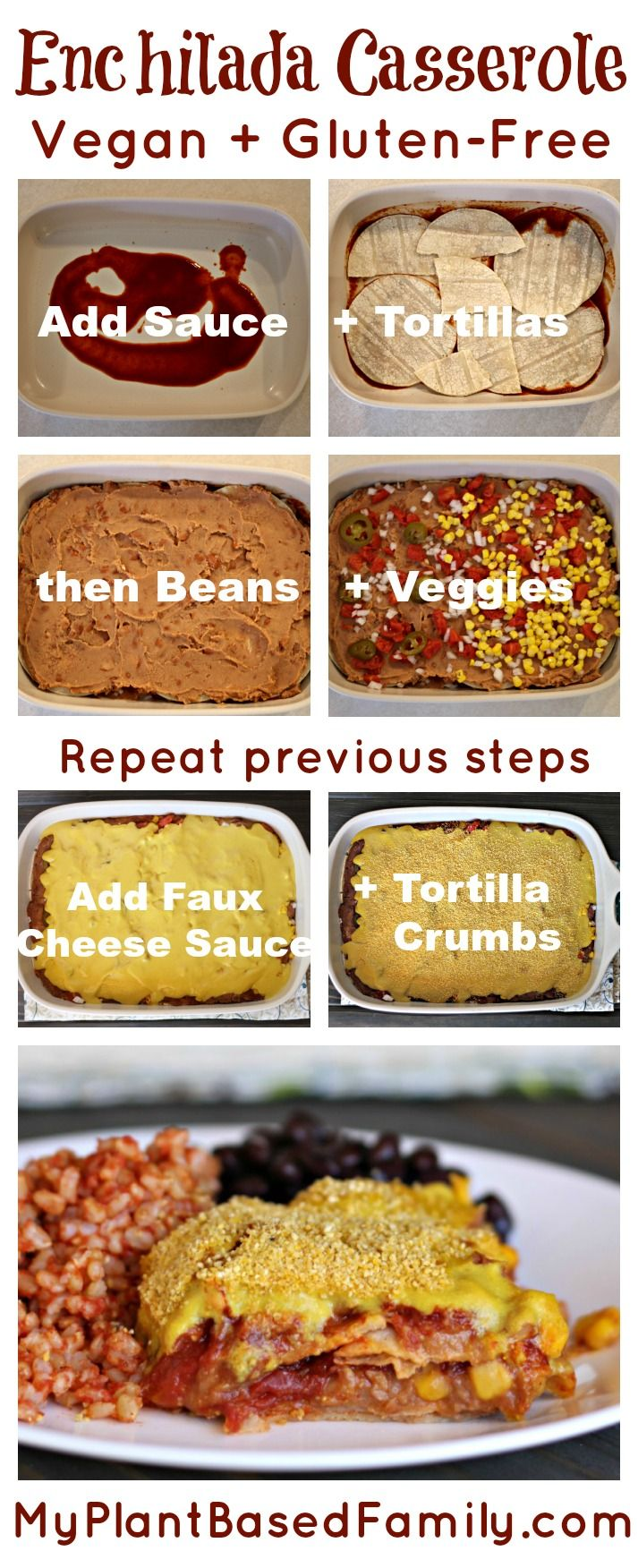 194 best my plant based family recipes images on pinterest enchilada casserole forumfinder Image collections