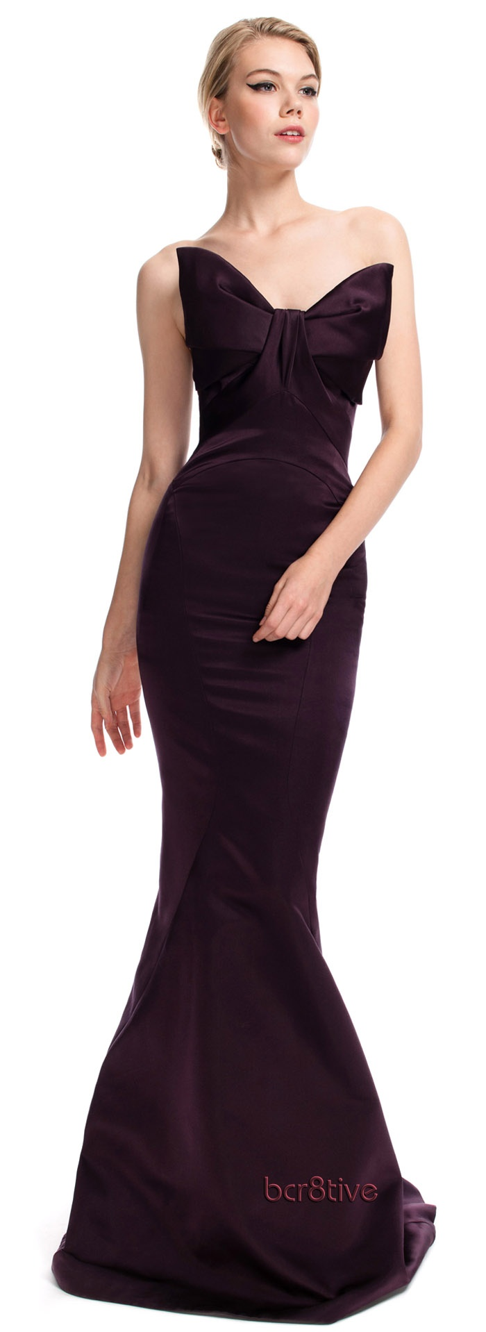 Zac Posen Bow Evening Gown