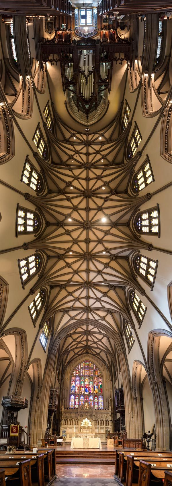 vertical panoramas of church ceilings by Richard Silver