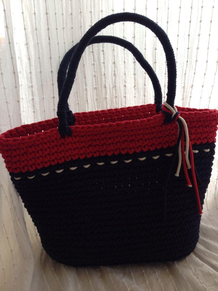 A.Matusik- torba z bawełnianego sznurka.