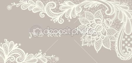 Карта с белым кружевом. Цветочный фон — стоковая иллюстрация #23913755