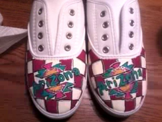 Arizona Iced Tea Hand Painted Canvas Shoes on Etsy, $45.00