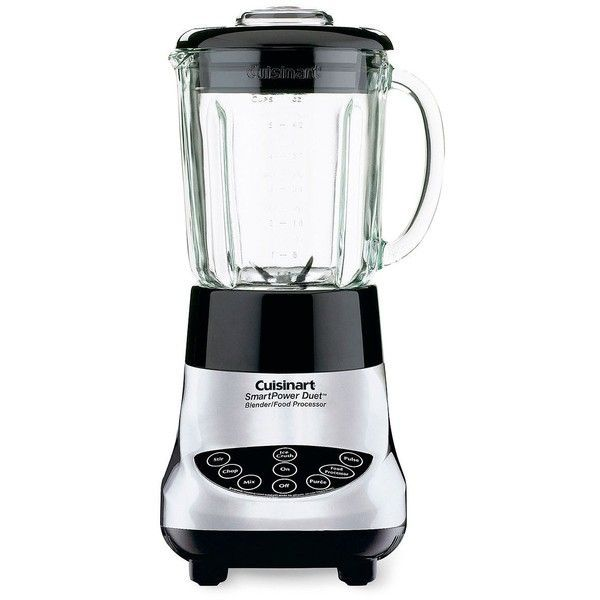 Cuisinart Smartpower Duet Blender And Food Processor 875 Mad Liked On Polyvore Featuring Home Kitch Electronic Blender Food Processor Recipes Top Blenders