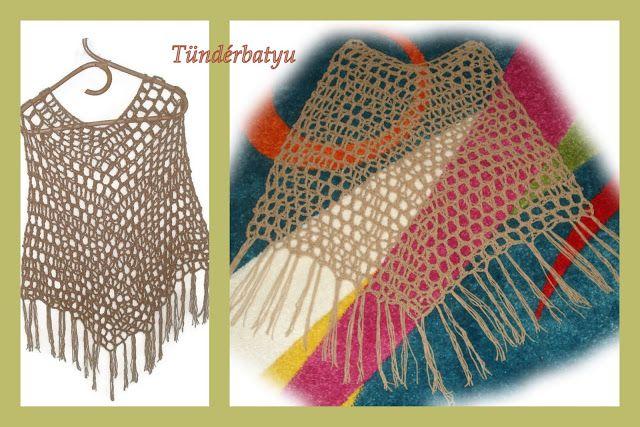 summer crocheted poncho www.facebook.com/tunderbatyu
