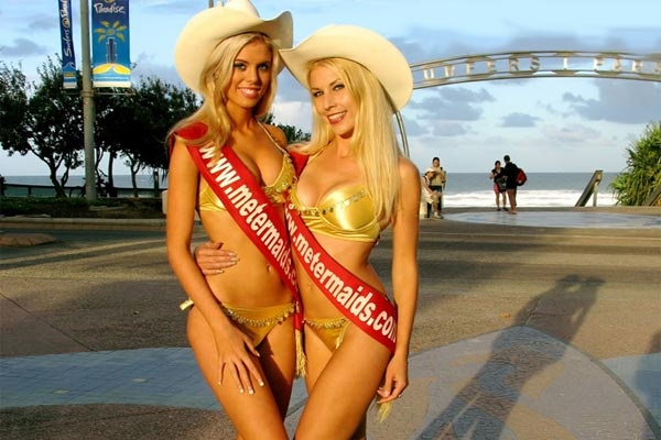 Surfers Paradise Meter maids #Australia #Queensland #GoldCoast - no parking tickets here - these girls keep your parking meters topped up