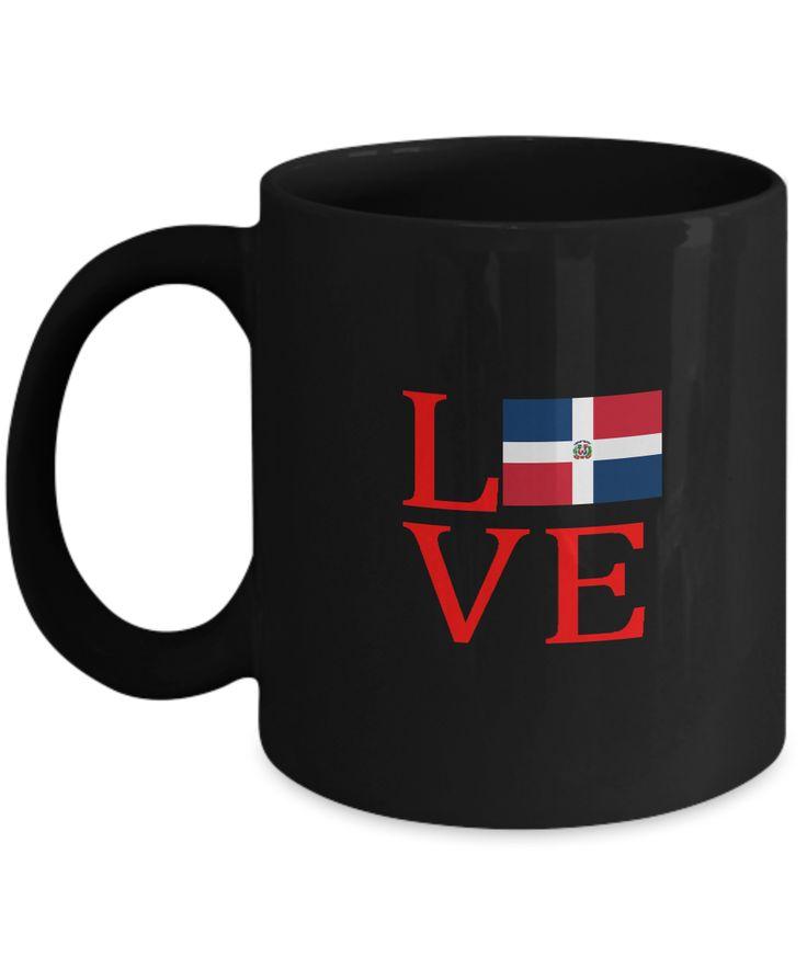 Dominican Republic DR Flag Love Uptown Drinking Coffee Mug