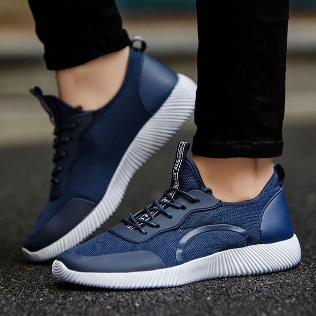 Men Shoes 2017 Men Casual Shoes Summer Breathable Lace up Flats Fashion Light Male Footwear Big Size 35-48 - Best price in 10minus