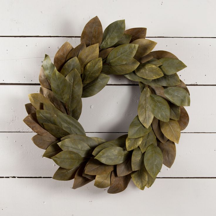 25 Best Ideas About Magnolia Wreath On Pinterest Faux