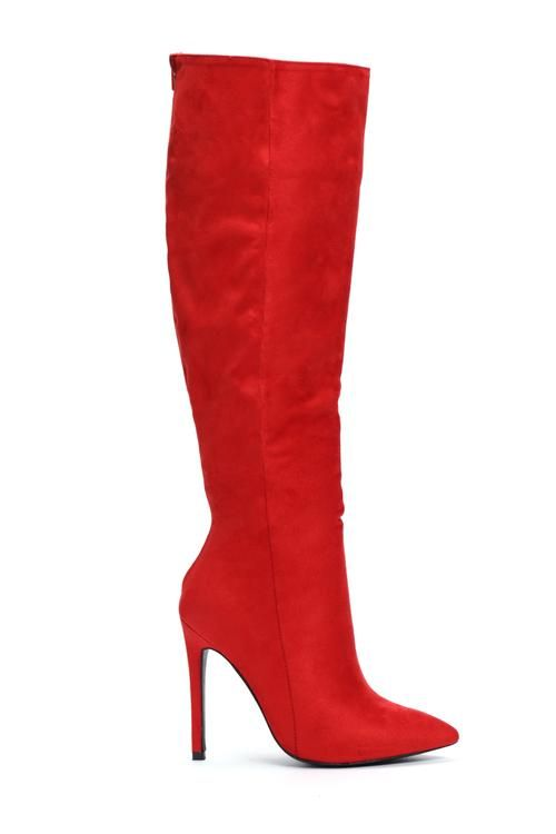 ea967acb28 Typical Me Heeled Boot - Red | I'mAputUoverMyknee in 2019 | Boots ...