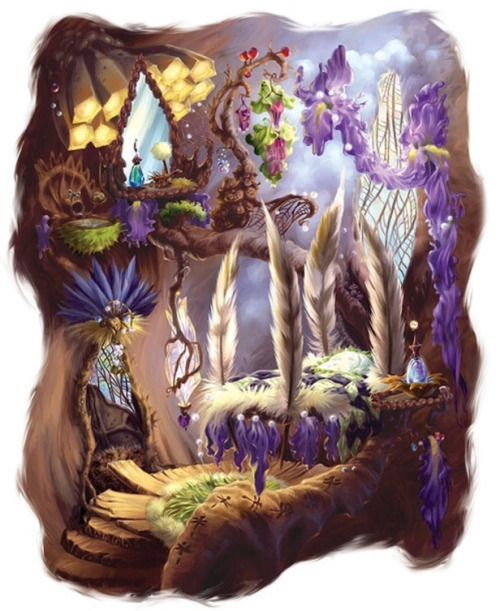 The Art Of Disney Fairies // Vidia's room. Gah it's ridiculously gorgeous!