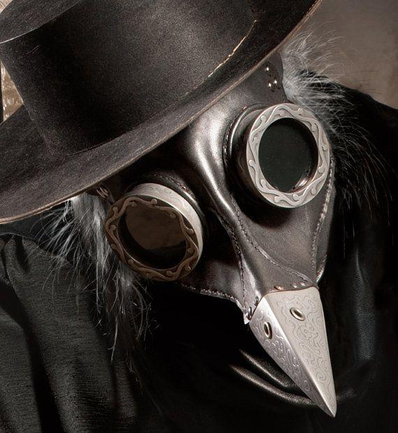 Le médecin de peste steampunk masque en noir  Crapaud