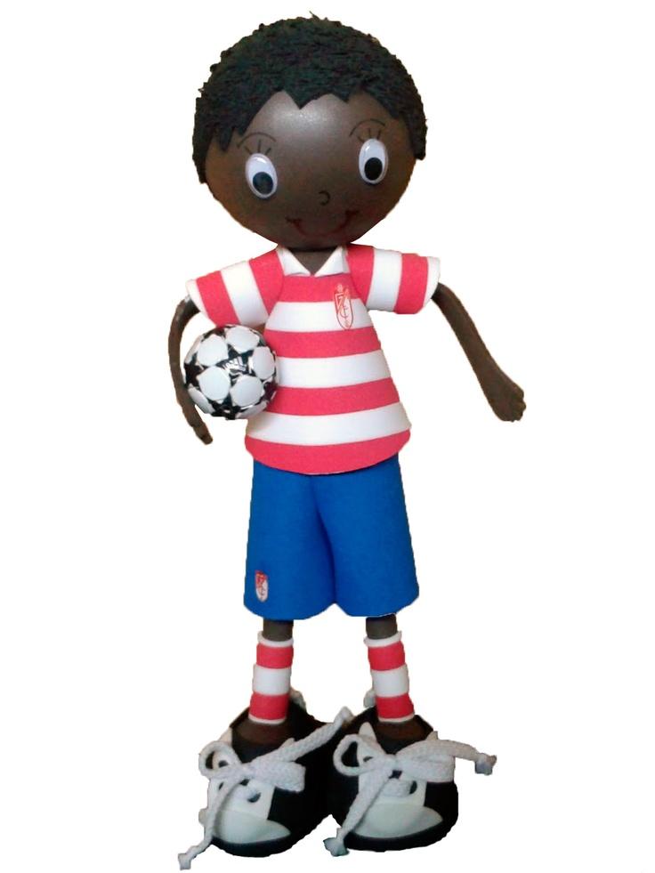 Fofucho jugador Granada CF 2012/2013 de apróximadamente 25cm de altura.  Disponible también en 35cm y 50cm de altura.  Regalo ideal para los aficionados granadistas. Personaliza a tu fofucho con tu jugardor del Granada CF favorito.