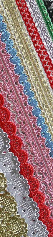 Paper lace trims from Germany for making Victorian style Christmas ornaments