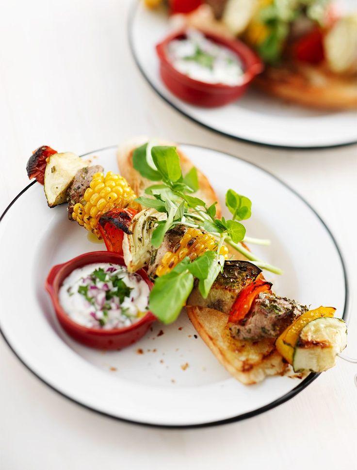 BBQ-spiesen met gemarineerde groenten