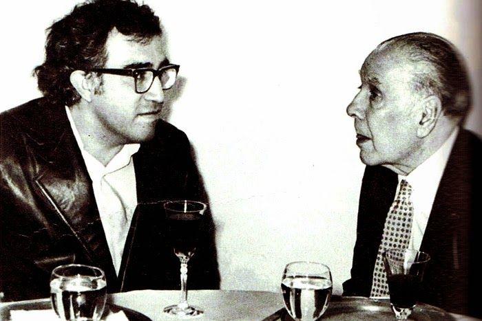 Borges todo el año: Carlos Monsiváis: Ironías -  Carlos Monsiváis y Jorge Luis Borges Chapultepec, 1975