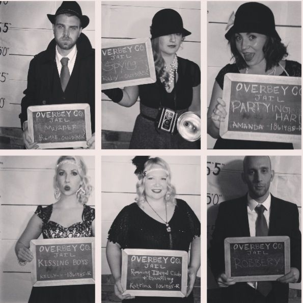 Roaring 20s party photo - could do quite cheaply - eg make on background, and find a chalk board.