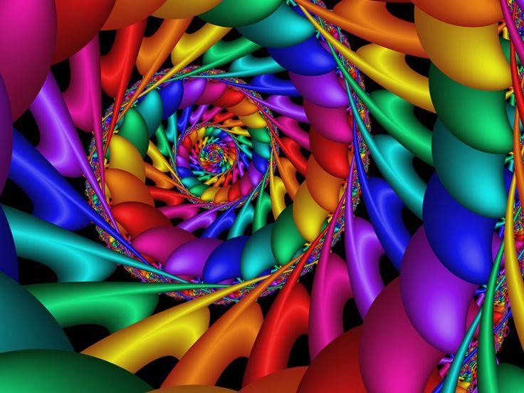 amazing rainbow fractal art - photo #37