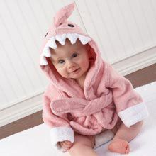 """""""Let the Fin Begin"""" Pink Shark Robe by Baby Aspen 