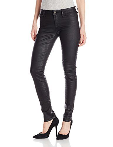 Mavi Women's Adriana Midrise Super Skinny Jean In Black Coated