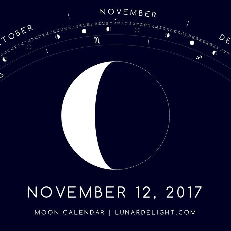 Sunday, November 12 @ 16:14 GMT  Waning Crescent - Illumination: 31%  Next New Moon: Saturday, November 18 @ 11:42 GMT Next Full Moon: Sunday, December 3 @ 15:48 GMT