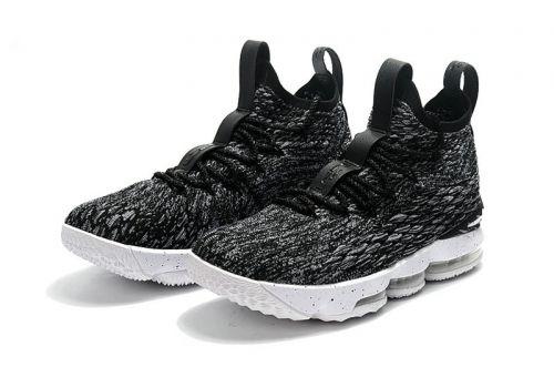 c04c6fa83eb Genuine Nike LeBron 15 Oreo Black White-White 897648-002 Nike LeBron ...