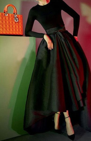 Cinderella Rich Ball Skirt Black Dresses Classy Dress